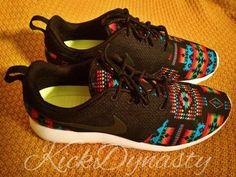 Tribal Aztec Nike Roshe Run Custom Sneakers by KickDynasty on Etsy Nike Free Run, Nike Free Shoes, Nike Shoes Outlet, Running Shoes Nike, Custom Sneakers, Shoes Sneakers, Roshe Shoes, Vans Shoes, Adidas Shoes