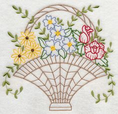 Paper Embroidery Patterns Machine Embroidery Designs at Embroidery Library! Embroidery Flowers Pattern, Paper Embroidery, Embroidery Transfers, Learn Embroidery, Free Machine Embroidery Designs, Vintage Embroidery, Embroidery Applique, Cross Stitch Embroidery, Embroidery Ideas