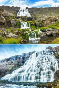 Dynjandi is the most famous waterfall of the Westfjords, and is one of the most beautiful waterfalls in all of Iceland. It is actually a cascade of waterfalls (7 of them) that make up a 300 foot (100 meter) drop total. Click through to see 15 of Iceland's best waterfalls!