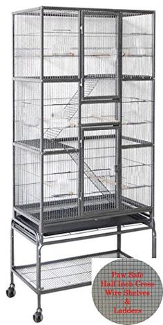 New Extra Large Tall Wrought Iron 3 Levels Ferret Chinchilla Sugar Glider Bird Cage x x With Removable Stand on Wheels *Black Vein* Bird Cages For Sale, Large Bird Cages, Mountain Bikes For Sale, Best Mountain Bikes, Flight Cage, Small Fish Tanks, Pet Bird Cage, Fish Tank Lights, Pets