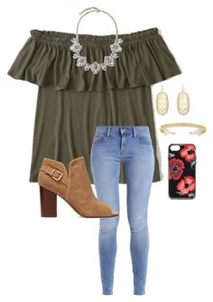 """Tuesday"" by abbyharshman8 on Polyvore featuring Abercrombie & Fitch, Kendra Scott, Kate Spade, Saks Fifth Avenue and Sam Edelman"