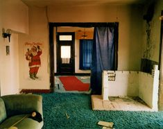 Steve Fitch - View inside a house in Ancho, eastern New Mexico, May 14, 2000