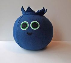 Blueberry Pillow Throw Pillow HANDMADE by ProjectOrange on Etsy $30.00  on sale now!