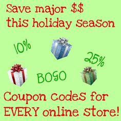 Coupon codes!