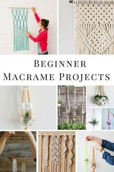 DIY Macrame projects for the beginner! Includes Macrame wall hangings, how to macrame knots and macrame plant hangers. macrame wall hanging easy 13 Fabulous Macrame Projects for the Beginner Macrame Wall Hanging Diy, Macrame Art, Macrame Projects, Macrame Knots, Macrame Wall Hangings, How To Macrame, Macrame Plant Hanger Diy, Macreme Plant Hanger, Driftwood Macrame