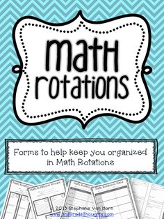 Math Rotations Plans for Groups