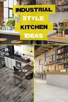 Find out how to create an industrial style kitchen in your home Warehouse Home, Industrial Style Kitchen, Kitchen Tiles, Kitchen Styling, Advice, Homes, Create, Inspiration, Kitchen Industrial