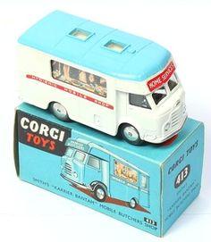 Corgi Toys vintage Karrier Mobile Butcher Shop.