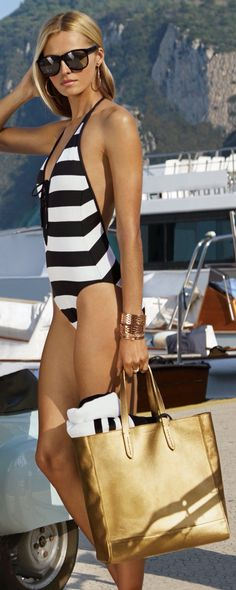 Ralph Lauren  #swimsuit  #Stripes