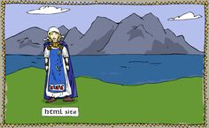 Viking learning page with flash and html interactive lessons on viking life, culture, and exploration