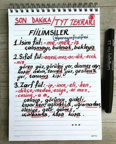 Fotoğraf açıklaması yok. Turkish Lessons, Exam Study, Self Care Routine, Study Tips, Language, Bullet Journal, Notes, Chart, How To Plan