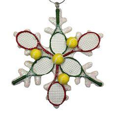 Snowflake tennis ornament!