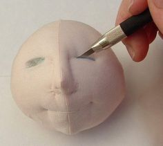 making fabulous eyes for cloth dolls | make handmade, crochet, craft
