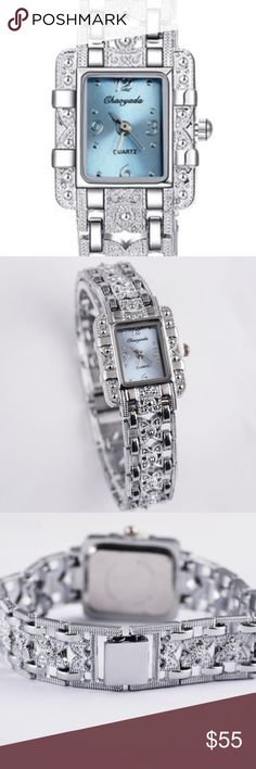 Fashion Luxury Bracelet Women Watch Condition: New  Dial dimension:2.3cm  Band length:19.5cm  Material: Alloy Steel silver color wristwatch.   A good choice for gift or decoration.  Super excellent design with precise movement.  It's fashion, is a very useful accessory brighten up your look. Accessories Watches