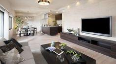 モデルルーム サンアリーナ市谷仲之町【公式サイト】 Luxury Interior, Interior Design, Ikea Bookcase, Grey Flooring, Kitchen Living, Furniture Decor, Living Room Designs, House Design, Home Decor