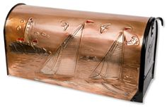 Hentzi Copper Rural Mailboxes Lighthouse Sailboats