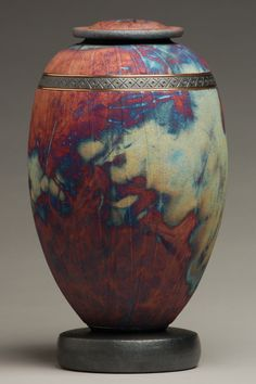 Majestic Copper Raku Urn by ElementalUrns on Etsy