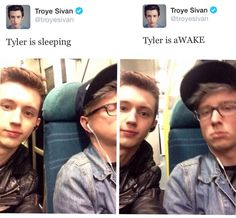 Words cannot describe how much I'm in love with this picture. Tyler is sooo cute when he's sleepy