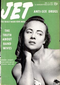 The Truth About Band Wives, Vintage Jet Magazine Cover, Dec 4, 1952