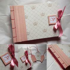 Álbum com costura japonesa. Traça Encadernação Manual.