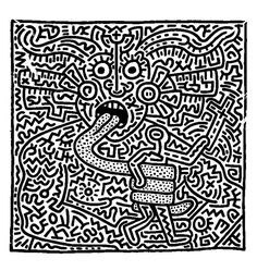 Keith haring 1 | Pop art - JustColor : Discover all our printable coloring pages for adults, to print or download for free !