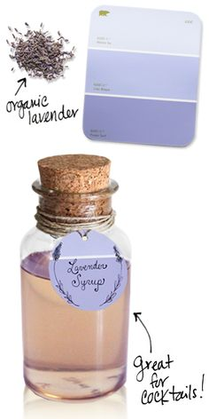Lavender syrup. I have no idea what I would use this for, but I want to make it!