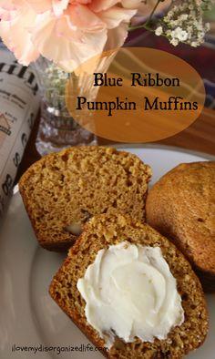 Blue Ribbon Pumpkin Muffins