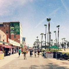 Venice beach boardwalk. If you are a weirdo, this is your place!