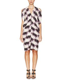 Silk Printed Key Dress