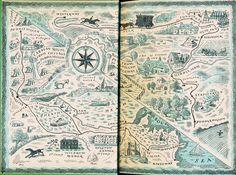 Endpaper map, Harold Jones