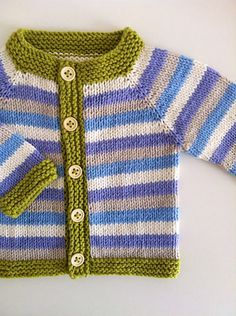 A simple and fuss free baby cardigan, ideal for a knitter who is new to seamless knitting, this tiny garment allows for lots of customisation to suit baby girls and boys alike.
