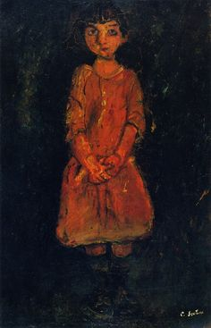 chaïm soutine(1894-1943), little girl with pink dress, c. 1928. oil on canvas, 92.1 x 60 cm. private collection http://www.the-athenaeum.org/art/detail.php?ID=56718
