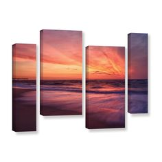 Outer Banks Sunset II by Dan Wilson 4 Piece Photographic Print on Gallery-Wrapped Canvas Set
