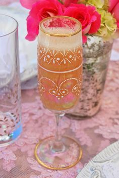 Whipped white peach bellinis!