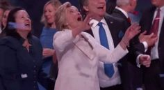 This dude wanted to play with the balloon too... until he realized he was standing next to Hillary Clinton.