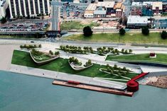 Beale Street Landing in Memphis, Tennessee—a waterfront park designed in…