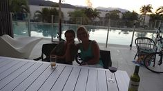 Tina and me at Pools Apartments August 2013