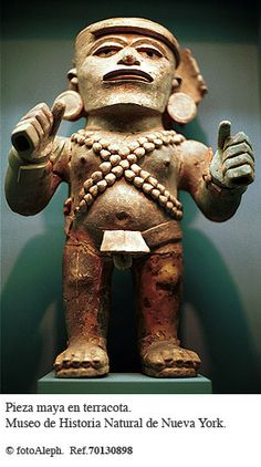 figura e n terracota  maya MUSEO DE HISTORIA NATURAL DE NUEVA YORK