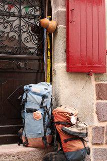 Saint jean pied de port. Sur la route de compostelle...  de Saint-Jean-Pied-de-Port à Roncesvalles
