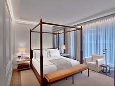 """The rooms are designed with state of the art technology allowing temperature, lighting and room service to be controlled by a tablet. Guests who prefer to use the phone will find a button allocated for """"Champagne"""" to order a bottle of their favorite vintage to their rooms, accompanied by signature Baccarat glasses."""