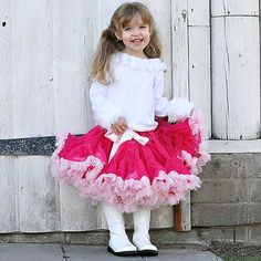 Raspberry and Pink Ruffles Pettiskirt from PoshTots