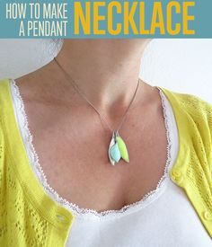 How To Make A Mosaic Polymer Clay Necklace Pendant | A great guide on how to make this cute necklace. #diyready diyready.com