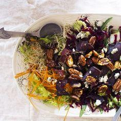 Biltong and blue cheese salad [ NYBiltong.com ] #biltong #recipe #flavor