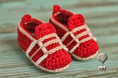 Crochet Pattern Baby Sneakers Boys Crochet Shoes by Inventorium
