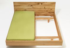 wooden bed MAMMA wood by sixay furniture - premium solid wood design furniture Plywood Bed Designs, Bamboo Furniture, Furniture Design, Wooden Double Bed, Modern Exterior House Designs, Diy Bed Frame, Bed Frames, Wood Headboard, Wood Beds