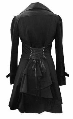 Classic Cotton Victorian Gothic Steam Punk Vampire Corset Riding Jacket Coat Plus Sizes 8-28.: Amazon.co.uk: Clothing