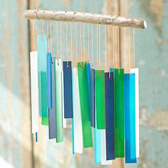 These are the colors I'm using on the garden this year, so I really want this sea glass wind chime.