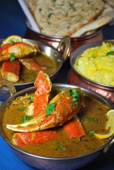 Coconut Crab Curry, a little sweet and a little spicy. An amazing curry to serve with rice and naan.