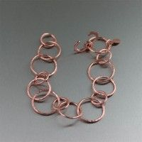 Hammered #Copper #Link #Bracelet. For the style-conscious   http://www.johnsbrana.com/hammered-copper-link-bracelet.html  $95.00