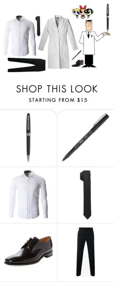"""""""Professor Utonium"""" by dark-jewel ❤ liked on Polyvore featuring Montblanc, Dolce&Gabbana, Loake, men's fashion and menswear"""